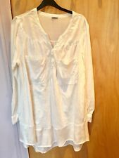 "H&M light peach Tunic Top 34"" In Length Size L preowned"