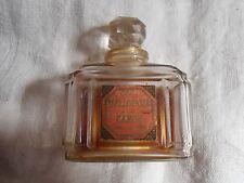 Vintage 1920s Caron Bellodgia Perfume Bottle label Baccarat small amount left