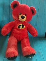 """Build a Bear Incredibles 2 Plush Teddy Toy Stuffed Animal Doll 16 """" BABW Disney"""