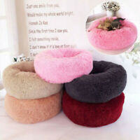 Pet Dog Cat Calming Bed Warm Soft Plush Round Cute Nest Comfortable Sleeping