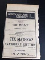 F9-1 Ephemera 1965 Advert Winter Gardens Cornwall The In Sect Tex Matthews
