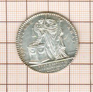 Pretty Token Silver Louis XV Le Dénuement Of Convents Consociare Pile