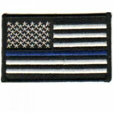 American Flag Blue Lives Matter Police Embroidered Patch Free Shipping!