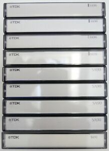 9x TDK SA90 Tape Cassettes Type II, Chrome, Excellent