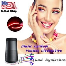 Electronic LED Eyelashes For Party Sound Activated Control  5 Flashes Effects