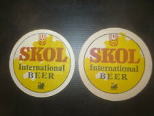 2 Different.SWAN Brewery,/ SKOL Beer, 1970,s Special Issue  COASTERS
