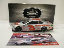 AUSTIN DILLION & CHILDRESS .. signed 2018 .. DARLINGTON SILVER .. 1/24 CAR