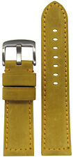 24mm Panatime Golden Buck Vintage Leather Watch Band with Match Stitch 125/75
