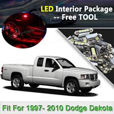 15X HOT RED LED Interior Light Package SMD Bulb For 1997- 2010 Dodge Dakota J2