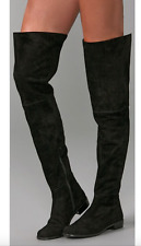 NEW $798 STUART WEITZMAN HILO OVER THE KNEE OTK SUEDE BOOT BLACK 7