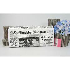 Kate Spade Black White Newspaper Glitzy Ritzy Large Clutch Bag NWT