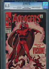 Avengers #57   (1st S.A. Vision)  CGC 6.5  OW-WP