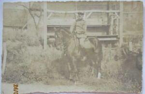 Deutscher Offizier zu Pferd, Fotokarte (7467)