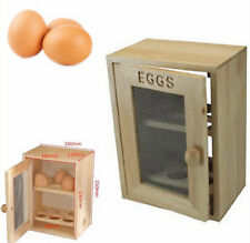 Wooden Shabby Chic Kitchen Egg Storage Box Novelty Farmhouse 12 Egg Holder Rack