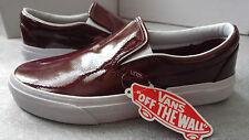 Vans Donna Borgogna Slip-on Size 6.5 UK (40eu)