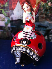 Angelina The Ladybug Fairy ~ Enamel Trinket Box & Necklace #62600
