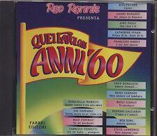 Quei favolosi anni '60 1963 vol.2 PAVONE MORANDI PAOLI CATHERINE SPAAK HARDY CD