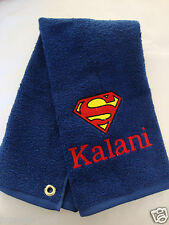 Personalized Embroidered Golf/Bowling Towel Superman Justice League DC Comics