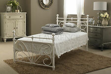 Sienna Single 3ft Metal Frame Bed In Ivory White  ** FRAME ONLY **