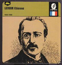 ETIENNE LENOIR France Combustion Engine Inventor CARD