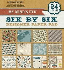"""My Mind's Eye  6x6203  """"Come Away With Me""""  6x6 Designer Paper Pad 24  Sheets"""