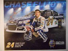 Chase Elliott Gold Auto 2016 #24 Kelley Blue Book Chevy Roy Nascar 8x10 Hero
