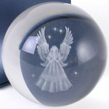 BEAUTIFUL GLASS GUARDIAN ANGEL ORNAMENT BALL SPHERE 3D LASER CRYSTAL ANGEL BOXED