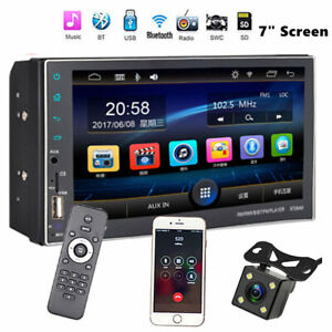 "7"" HD Android Car GPS Navigation Radio DVD MP5 Player Rear View 2 DIN Stereo"