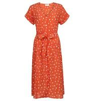 NEW Ex Hobbs Ladies Lucinda Polka Dot Spotted Midi Dress 6 8 10 12 14 16