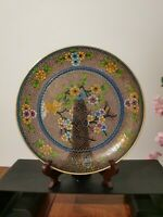 Chinese traditional craft cloisonne color old plate