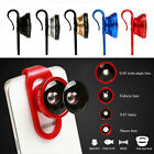 Macro & Fish eye Wide Angle Photo Red Clip Lens For Mobile Phone Camera Set Kit