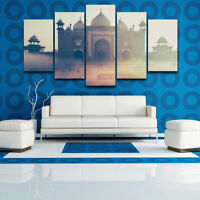Famous Mosque Framed Poster 5 Panel Canvas Print Wall Art Home Decor Painting