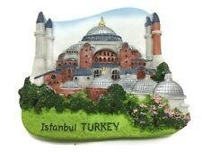 Hagia Sophia Istanbul TURKEY SOUVENIR RESIN 3D FRIDGE MAGNET SOUVENIR TOURIST