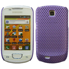 Purple Mesh Net Perforated Hard Back Case Cover For Samsung Galaxy Mini S5570