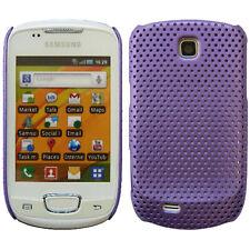 Violet Maille Filet Perforé Étui Coque Rigide pour Samsung Galaxy Mini S5570