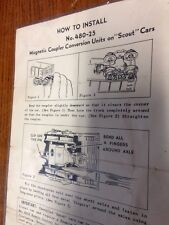 "Lionel How To Install No. 480-25. Magnetic Coupler Conversion Unit On""Scout"" Car"