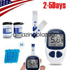 USA Blood Glucose Starter Kit Sugar Meter Monitor DiabetesW/ test strips/Lancets