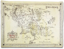 THE LORD OF THE RINGS - PARCHMENT POSTER / PRINT - MAP OF MIDDLE EARTH