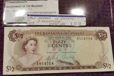 1965 BAHAMAS 50 Cents, UNC.