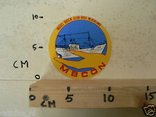 STICKER,DECAL MODEL BOTEN CLUB OOST NEDERLAND MBCON MODELS TOYS