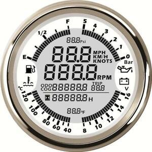 6in1 Digital GPS Speedometer Tachometer Multimeter For Car Motorcycle Boat Auto