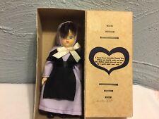 Vintage Hard Plastic Sleepy Eyes Amish woman Doll Org Box & Paperwork Lancaster