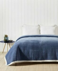 Private collection Limited Edition Coverlet Box Denim Blue QueenKing