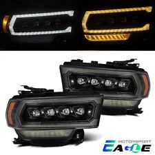 Fit 19-21 Dodge Ram 2500 NOVA-Series LED Projector Alpha-Black Headlights