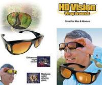 HD Night Vision Driving Sunglasses Nice Over Sport Wrap Black Glasses Unisex
