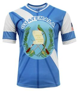 Guatemala and USA Jersey Arza Design For Men 100% Polyester V Neck