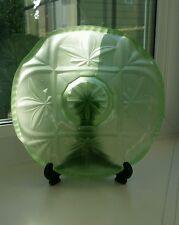 Art deco green opaque glass bowl/ plate.