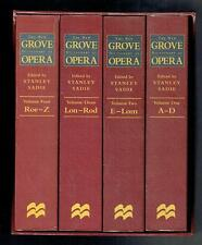 SADIE ; The new grove dictionary of Opera 4 Volúmenes en slipcase. 1998 Justo