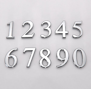 """Polished Chrome Door Numbers & Letters 3"""" ( 75 mm ) 