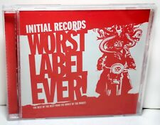 "V/A ""Initial Records Worst Label Ever!"" PROMO CD MINT // Punk // Indie // $1.65"